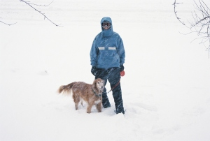 Sometimes a walk in Denver requires snowshoes.